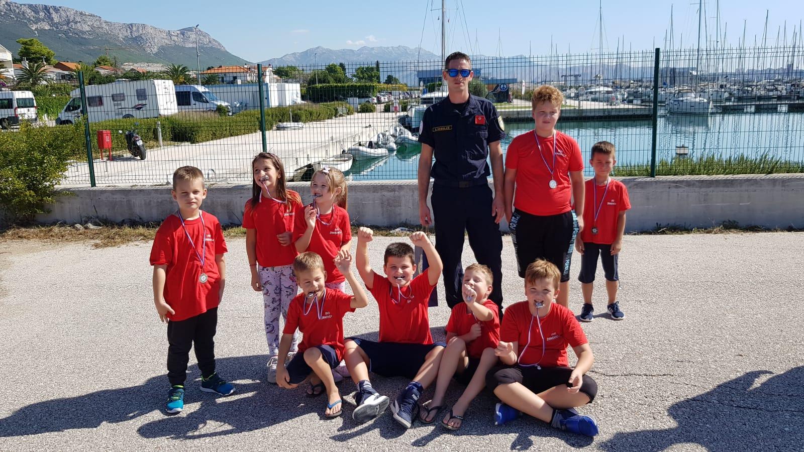 Nastup ekipe djece na Vatrogasnom natjecanju u Kaštel Gomilici